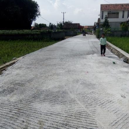 Dana Desa Tahap 1 Kegiatan Pembangunan Jalan Cicangkudu